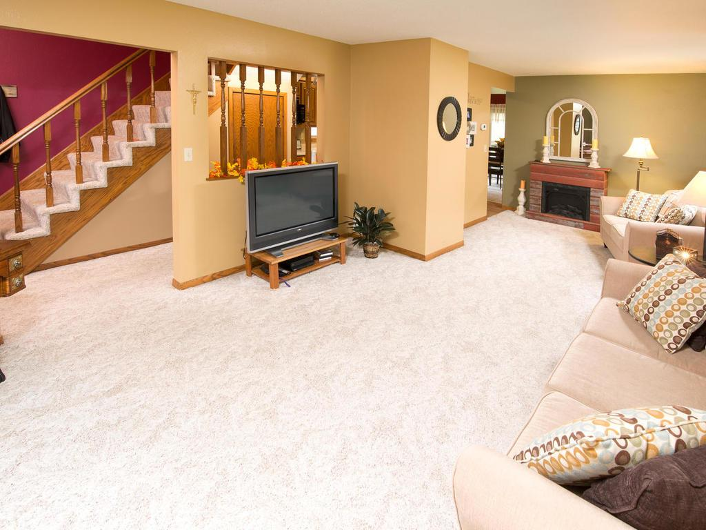 This home is beautiful.  Spacious living room.