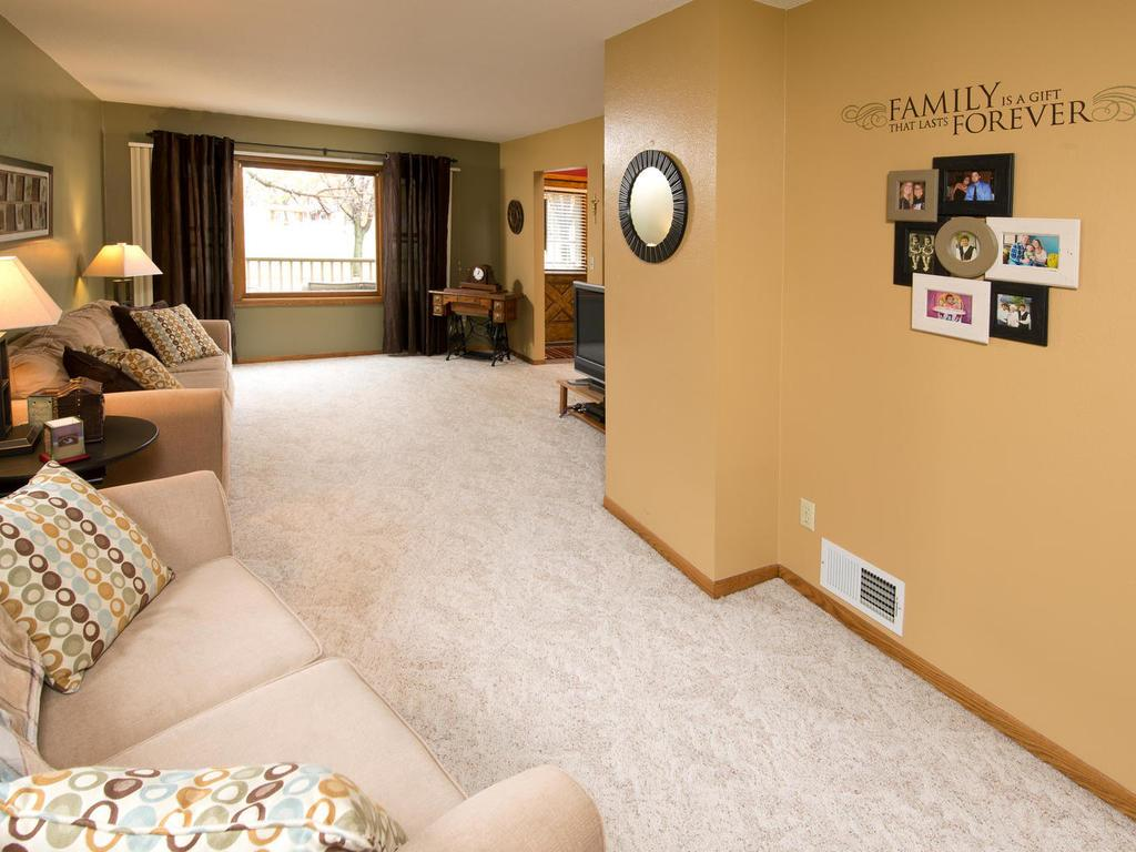 Your living room could easily be divided into a living room/office.  Plenty of space.