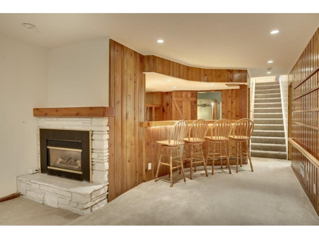 Lower level family room complete with built-in theatre area.