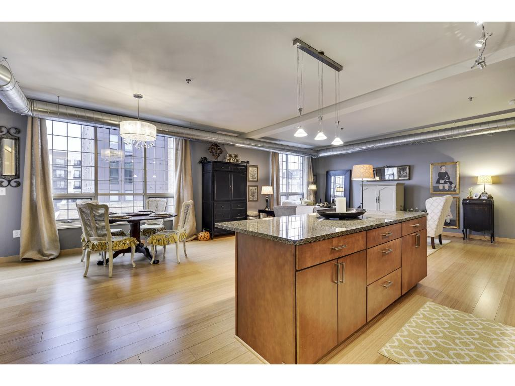 Well appointed kitchen with plenty of storage and granite countertops.
