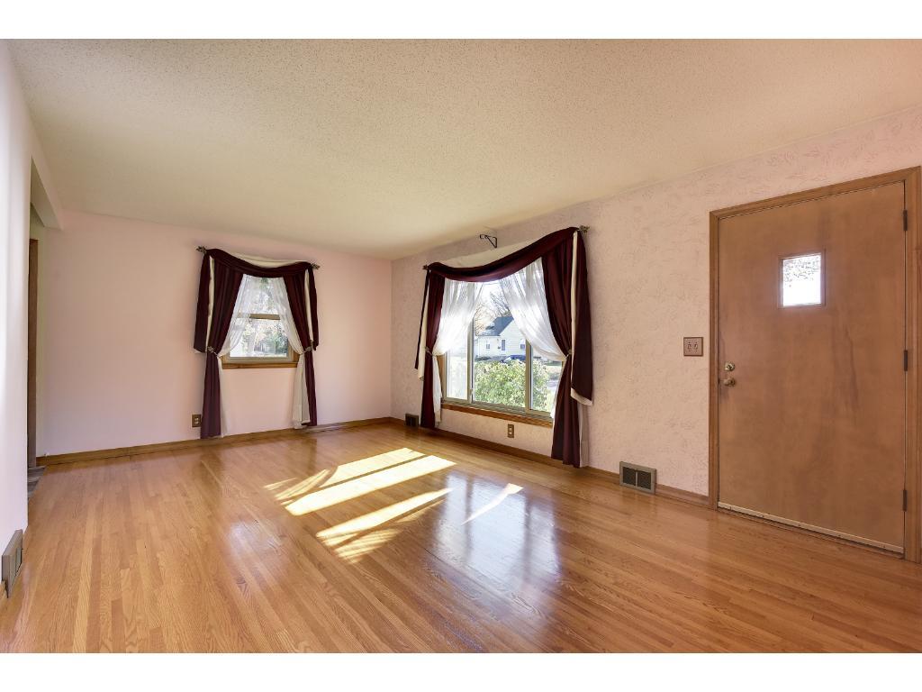 Beautifully restored hardwood floors!