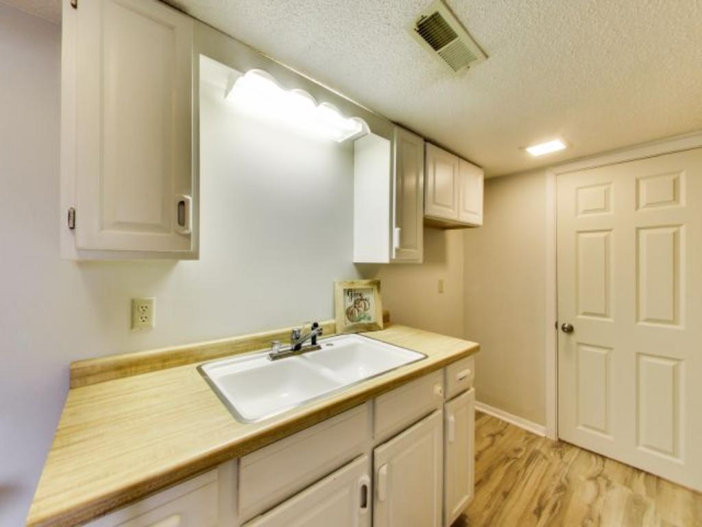 This second kitchen area can be fully operational with the installation of a fridge and range.