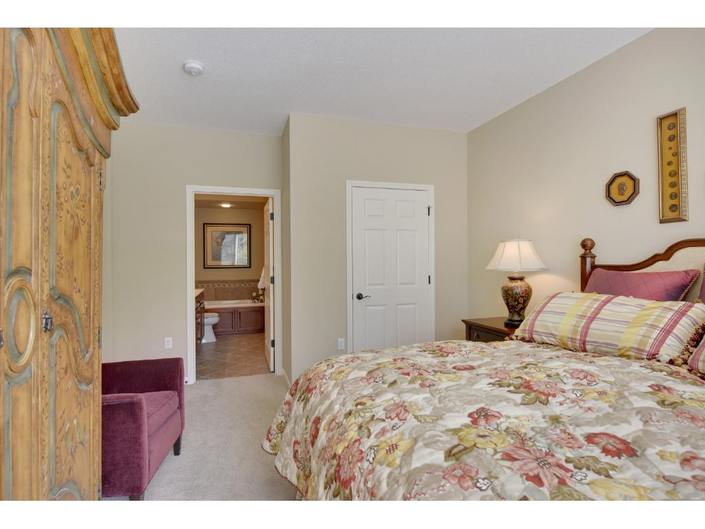 The master bedroom has an adjoining master bath and a fabulous 8x6 walk-in closet with built-in organizers
