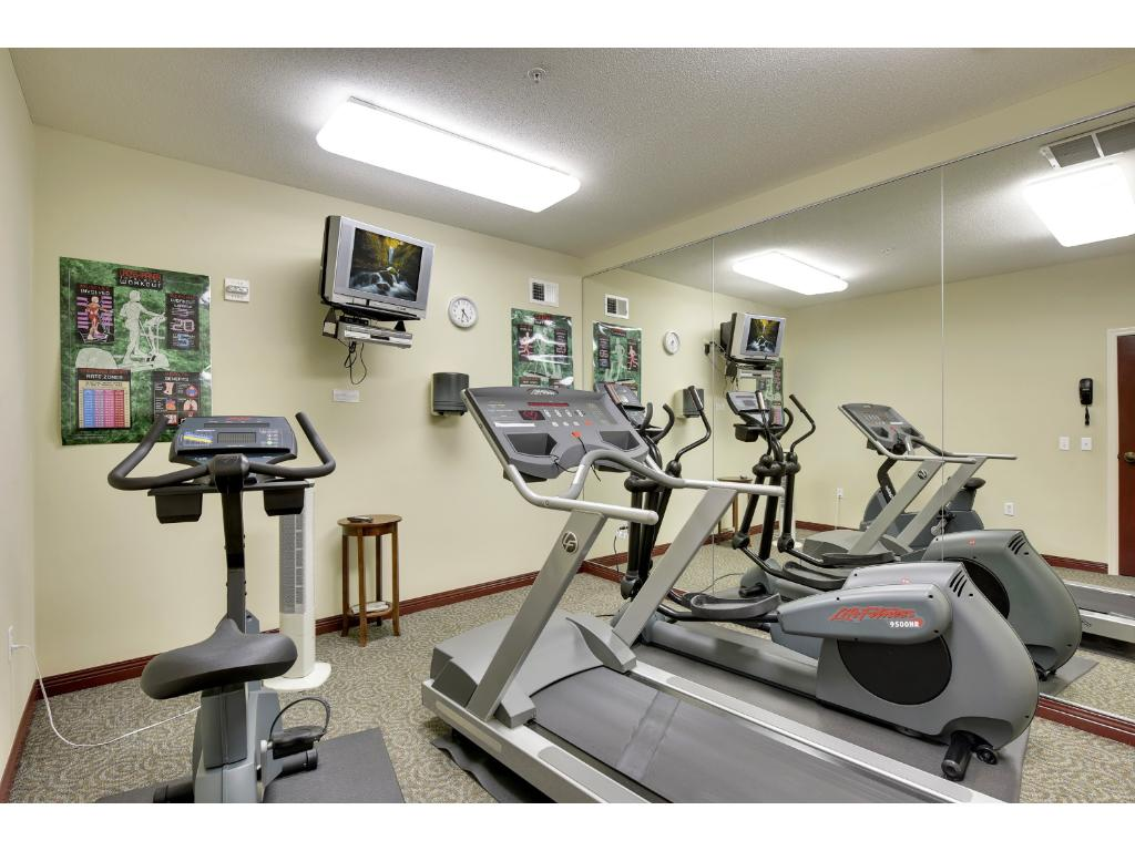 The exercise room is also located on the first floor as well as the guest suite which rents for $40/night