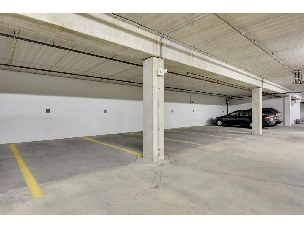 There are two underground heated parking stalls (#223 & #290). Both are end spots offering added protection for your car