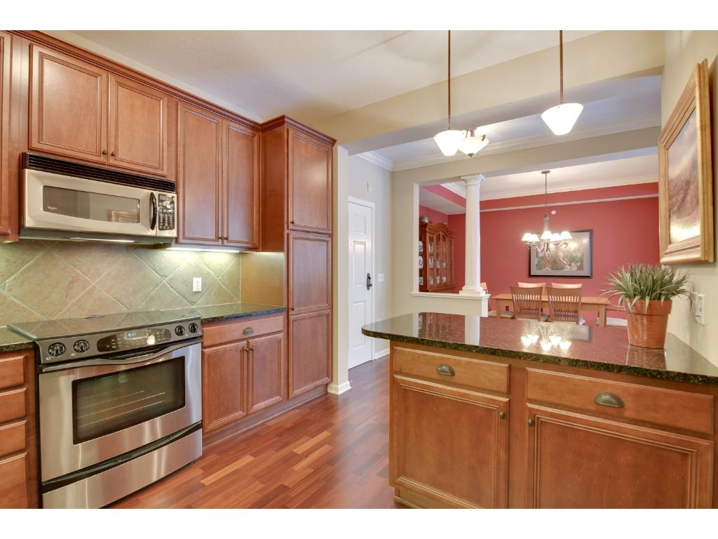 """The upgraded 42"""" cabinets include features such as pullout shelving and a lazy susan"""