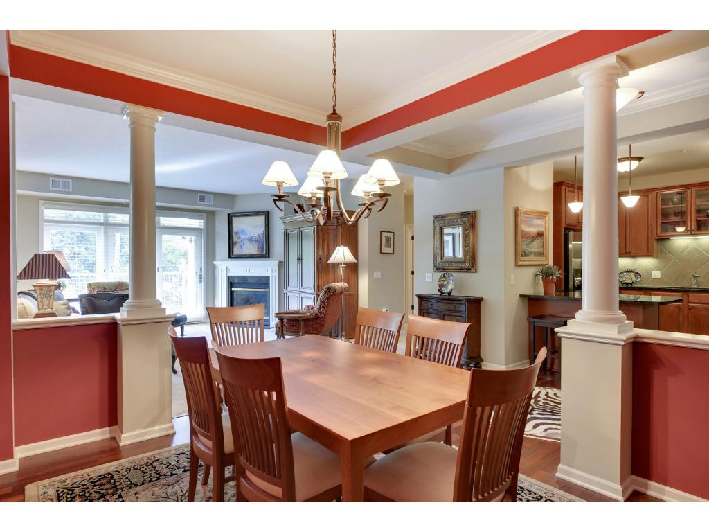 """The open """"great room"""" concept flows beautifully and is ideal for entertaining"""