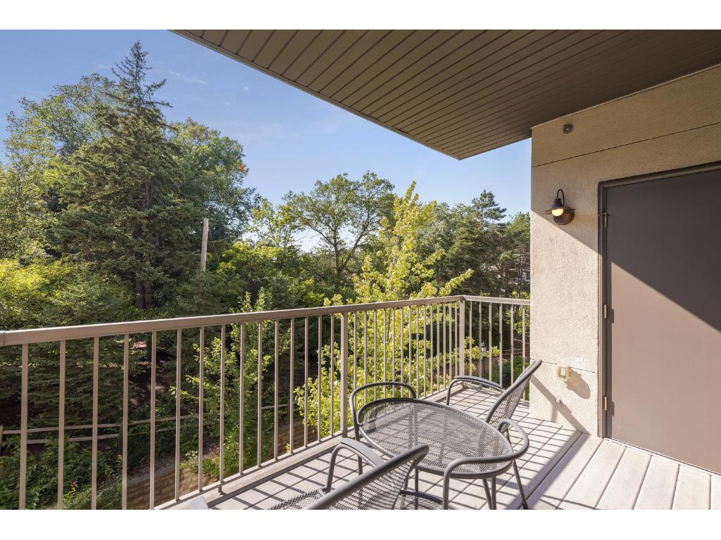 The 11x8 deck overlooks Sherwood Park and has a pre-plumbed gas line for a future BBQ as well as a 3x3 storage closet