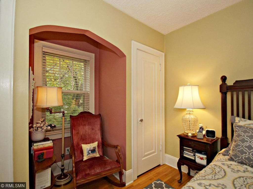 Double closets in master between a cute nook which gives so much charm to this room!