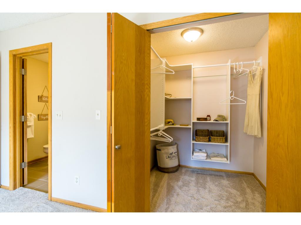 A view of the large walk-in closet