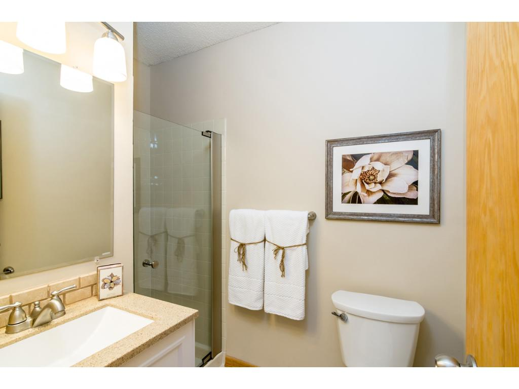 A second 3/4 bath on the main floor has been completely remodeled!