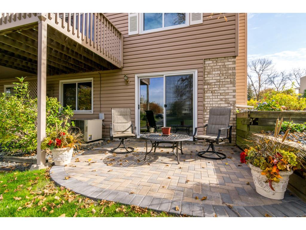 Enjoy this terrific paver stone patio