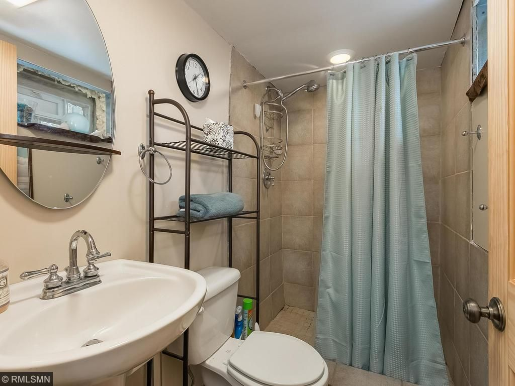 Lower level bathroom with nice finishes!