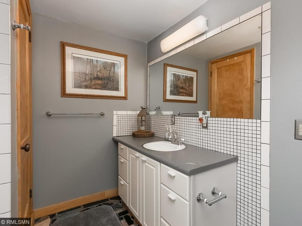 Large bathrooms with plenty of storage throughout the house!