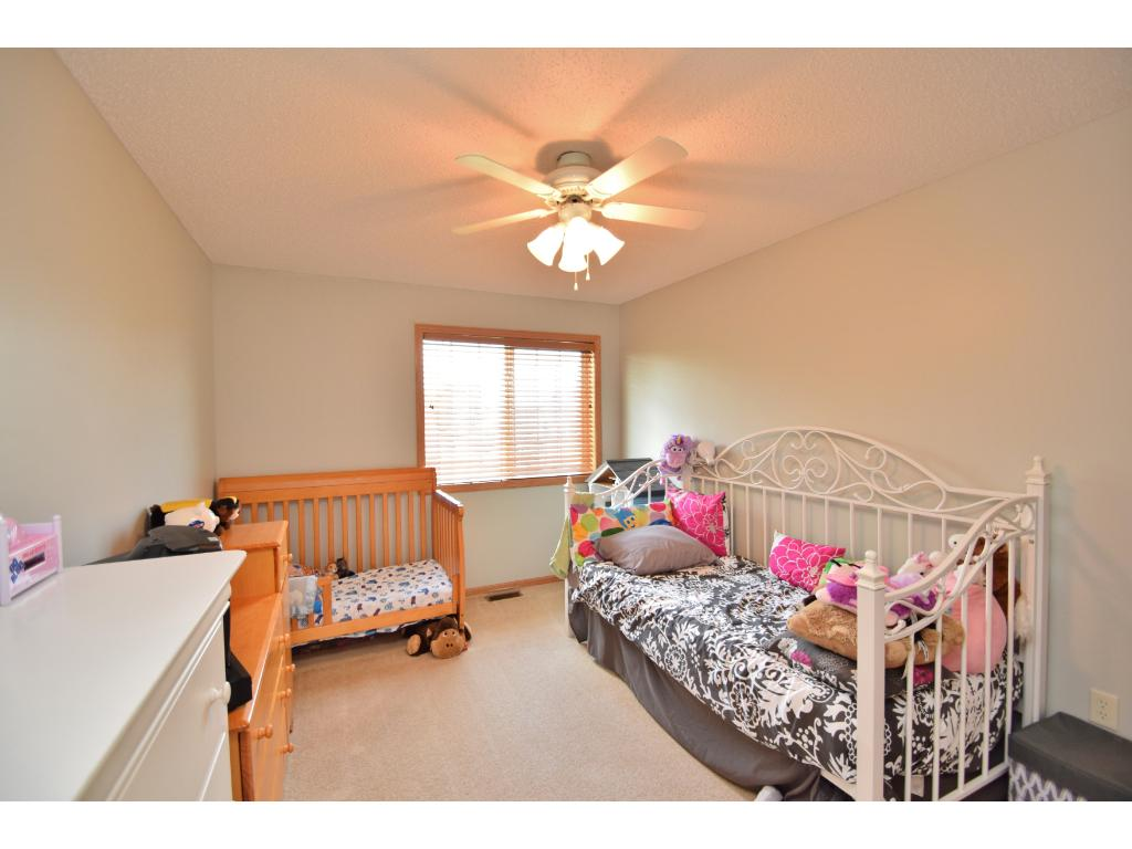 Second bedroom on upper level measures 14 x 10.