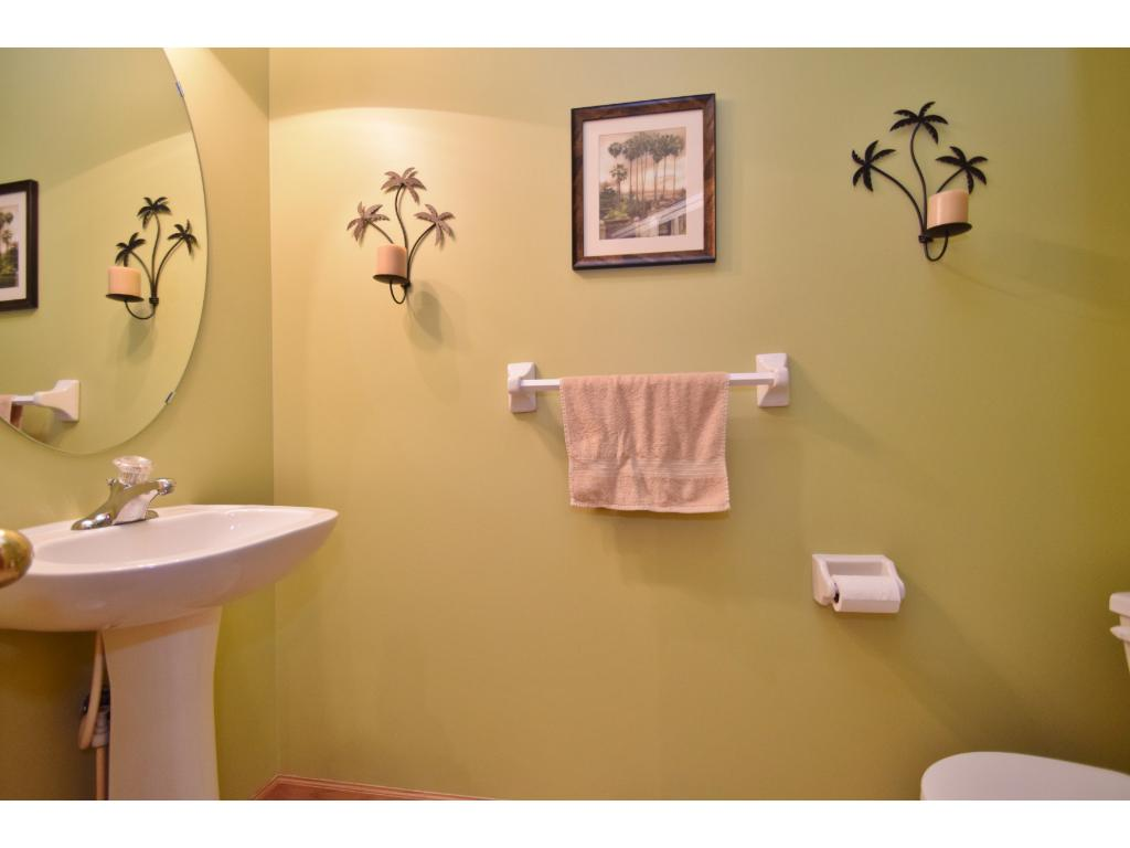 1/2 bathroom on main level off of kitchen.