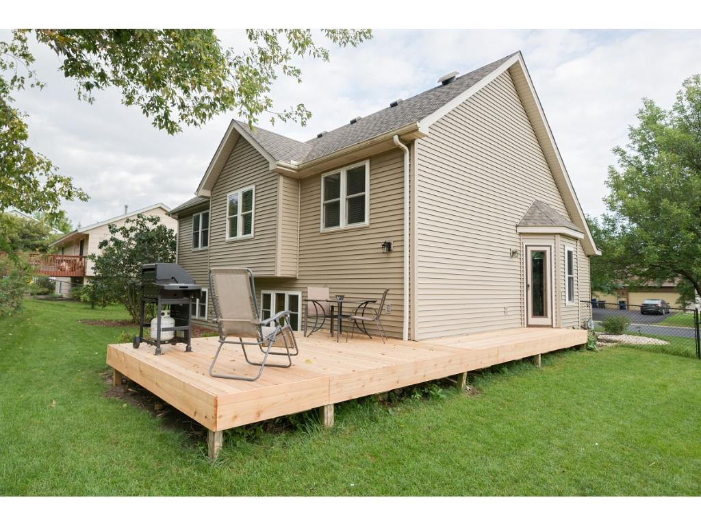 New deck material and large backyard ready for entertaining, gardening - whatever suits you.