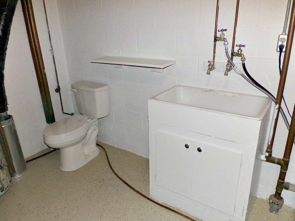 Basement Half Bath