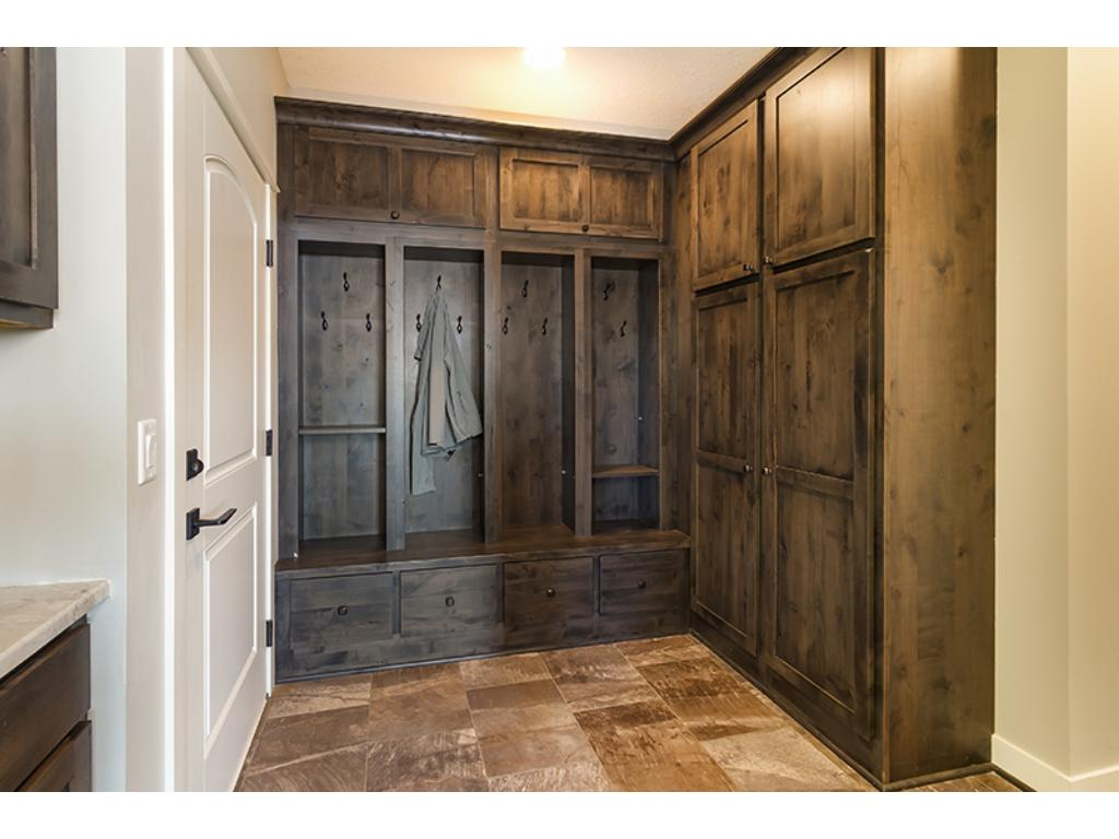 So much storage in the mudroom built-ins!