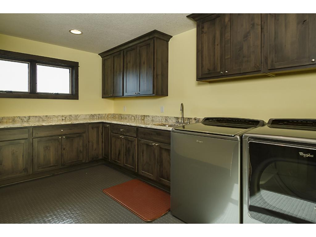 Extra storage in this spacious laundry room!