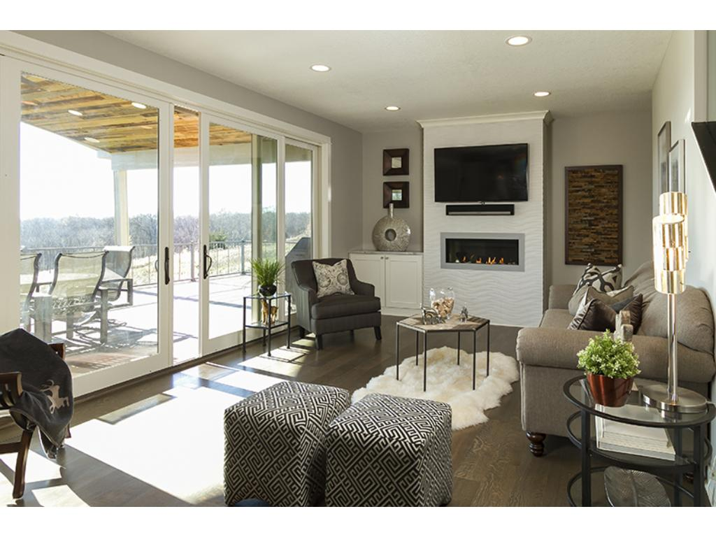 Entertaining space from a cozy living room directly out to the huge back deck!