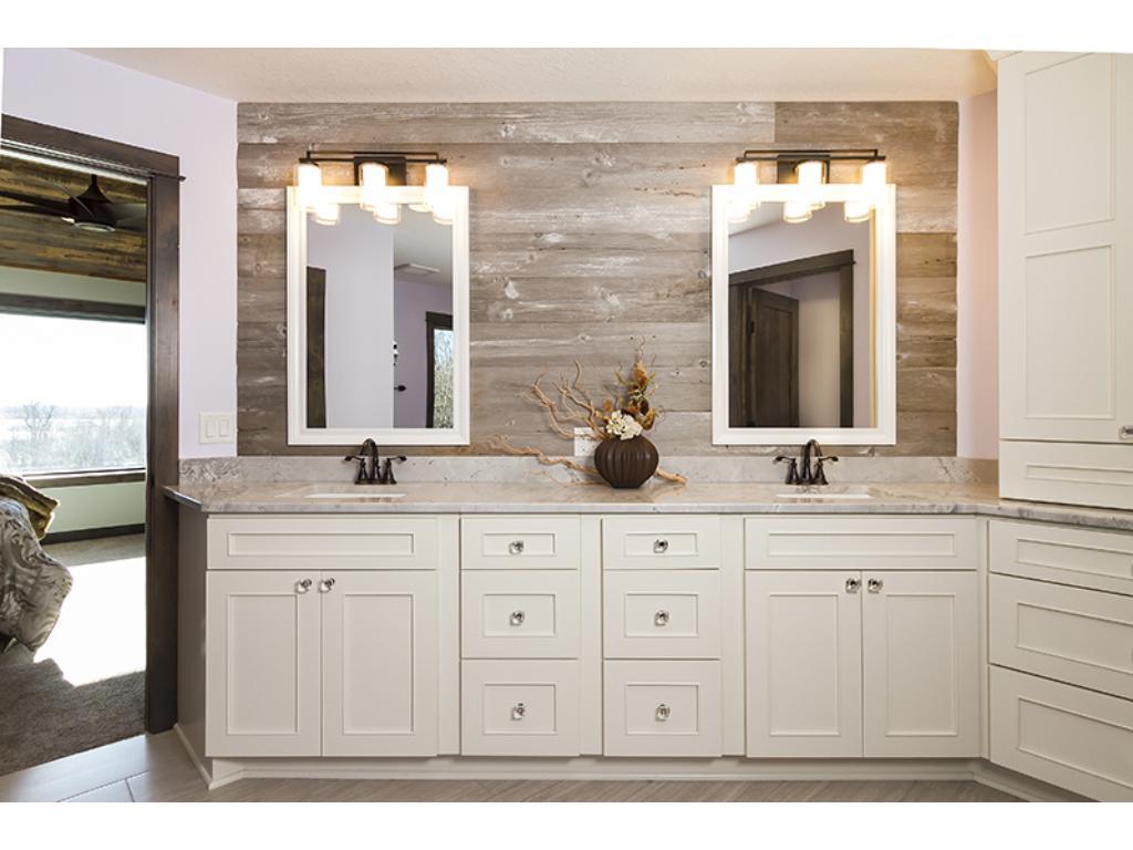 Huge master double vanity.