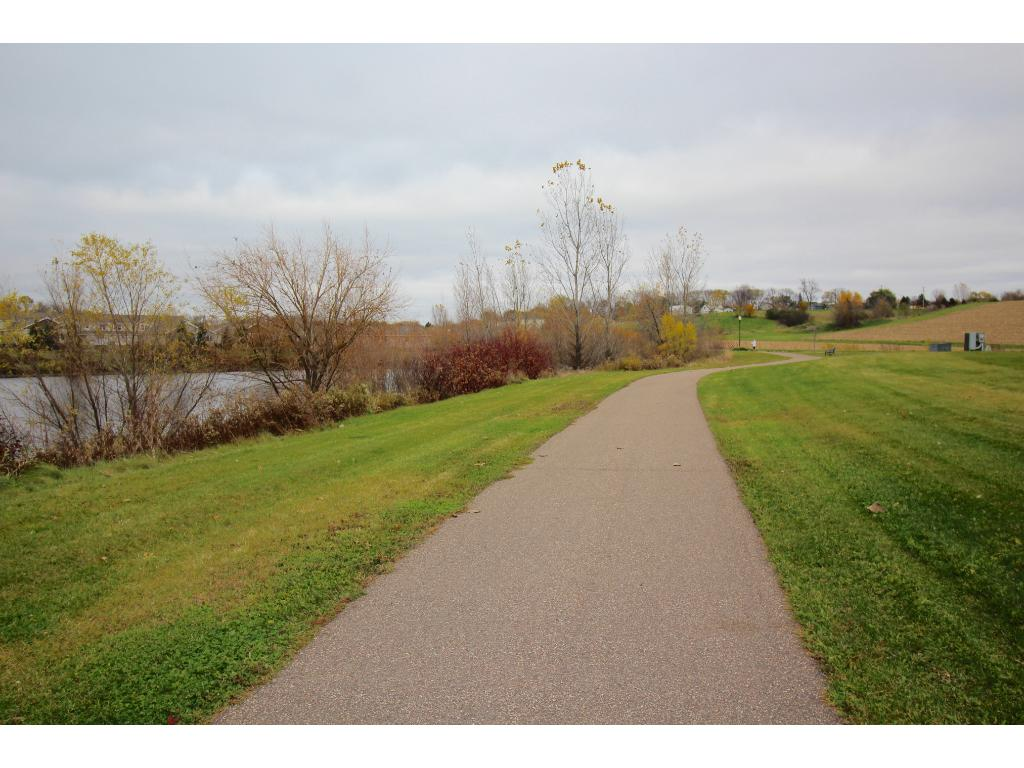 Enjoy a stroll around the Waterford trails just one block south of the townhome!