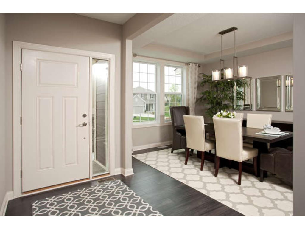 Photos of a Riverton Model (same floor plan, but finishes and options may vary) - Foyer Entrance