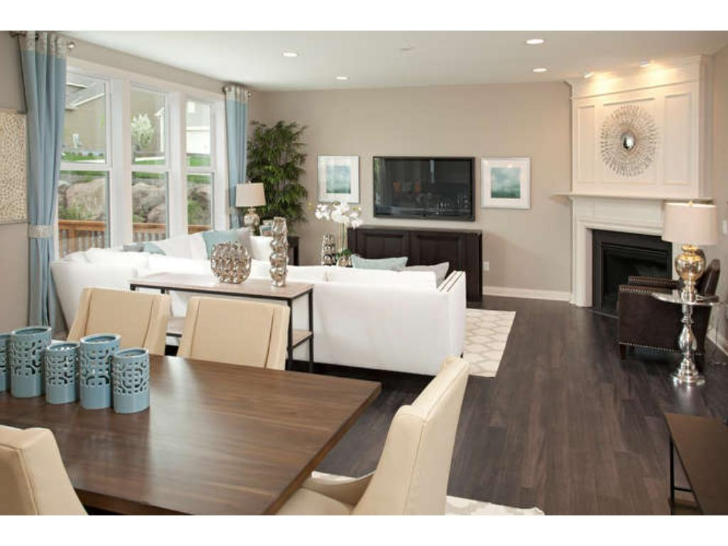 Photos of a Riverton Model (same floor plan, but finishes and options may vary) - Family Room with Caf area