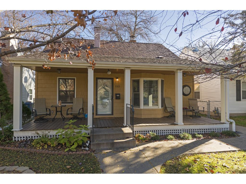 Welcome home to 5515 25th Ave S! Doesn't that front porch look inviting? Great place to hang out after a long day!