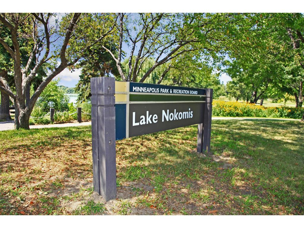 Lake Nokomis is a short two block walk away. There's so much to enjoy including walking paths, paddleboarding, softball leagues, the beach, and Sandcastle a counter-serve cafe offering varied New American eats, beer & wine on the beach!