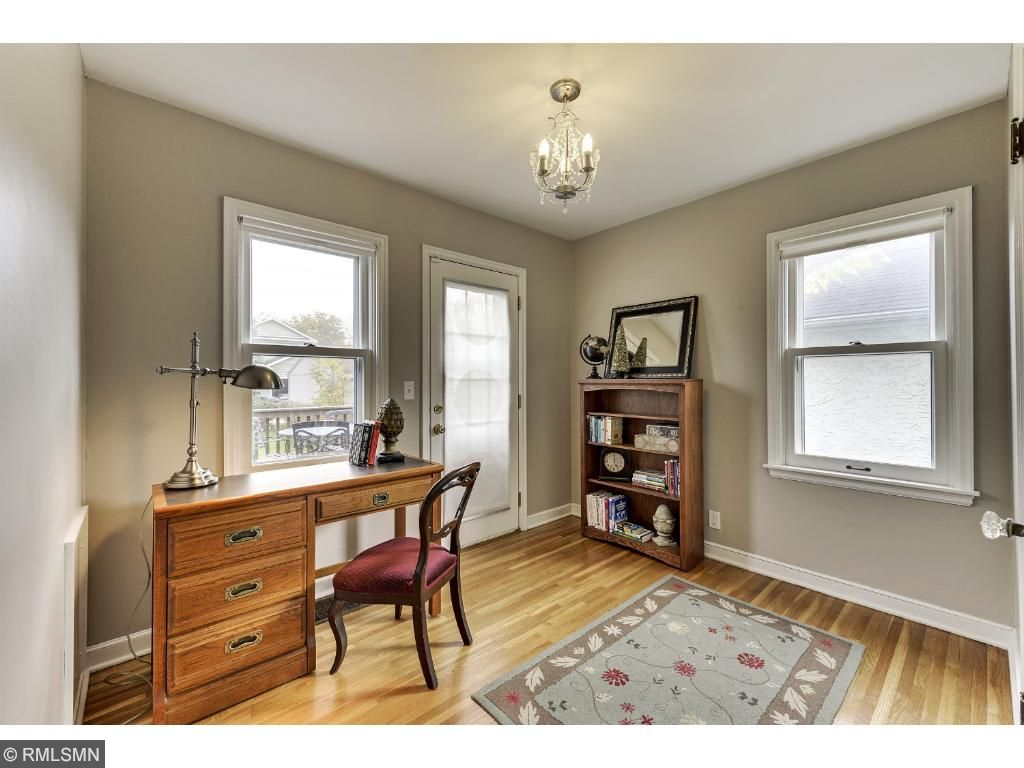Another angle of the second main floor bedroom or office space! 5525 36th Ave S