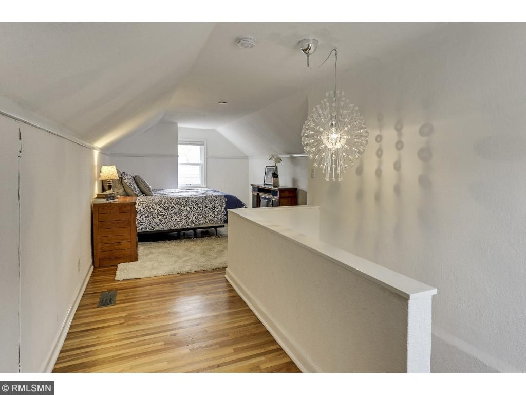 Upstairs is a spacious 3rd bedroom!  Neutral colors throughout!  5525 36th Ave S