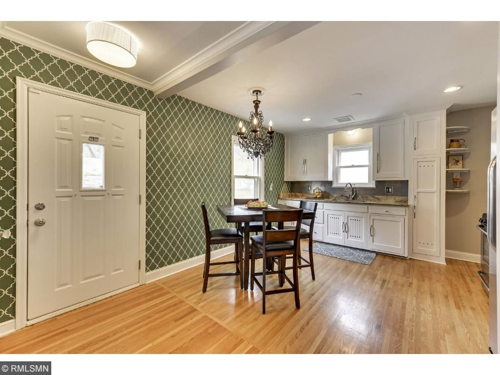 Another angle of the living and kitchen and entertaining space!  Open and lightfilled!  5525 36th Ave S