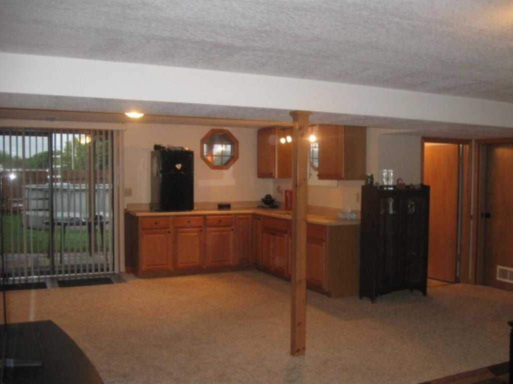 There is tons of storage in the laundry room which is conveniently located off the lower level family room.