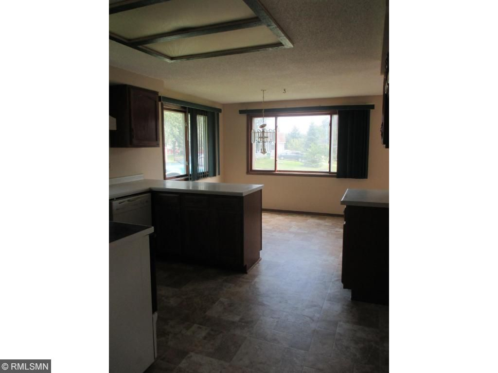 Here is a view from the kitchen into the dinning room area.