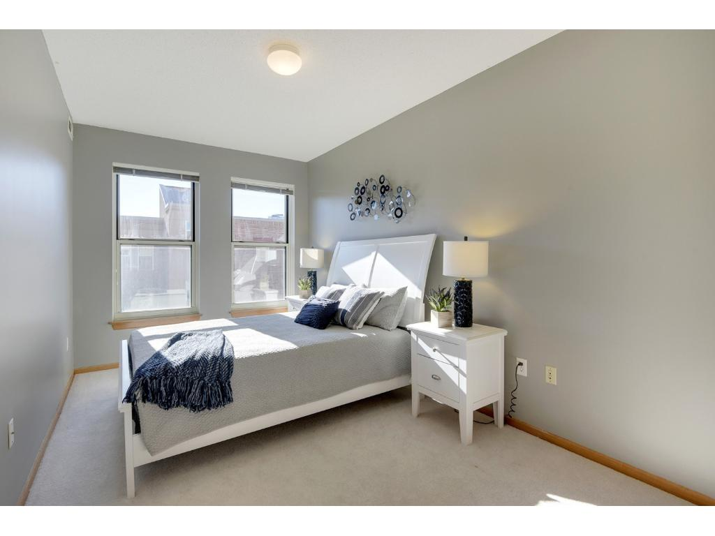 The 2nd bedroom could also be staged as an office, library, or entertainment room!