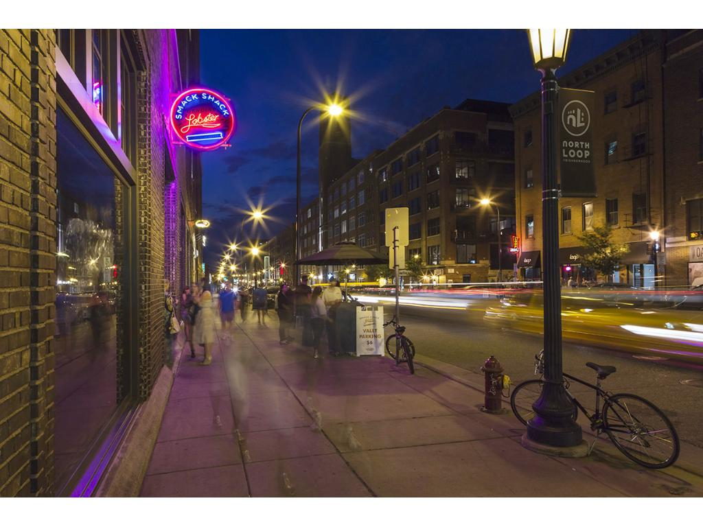 You'll love the North Loop night life!