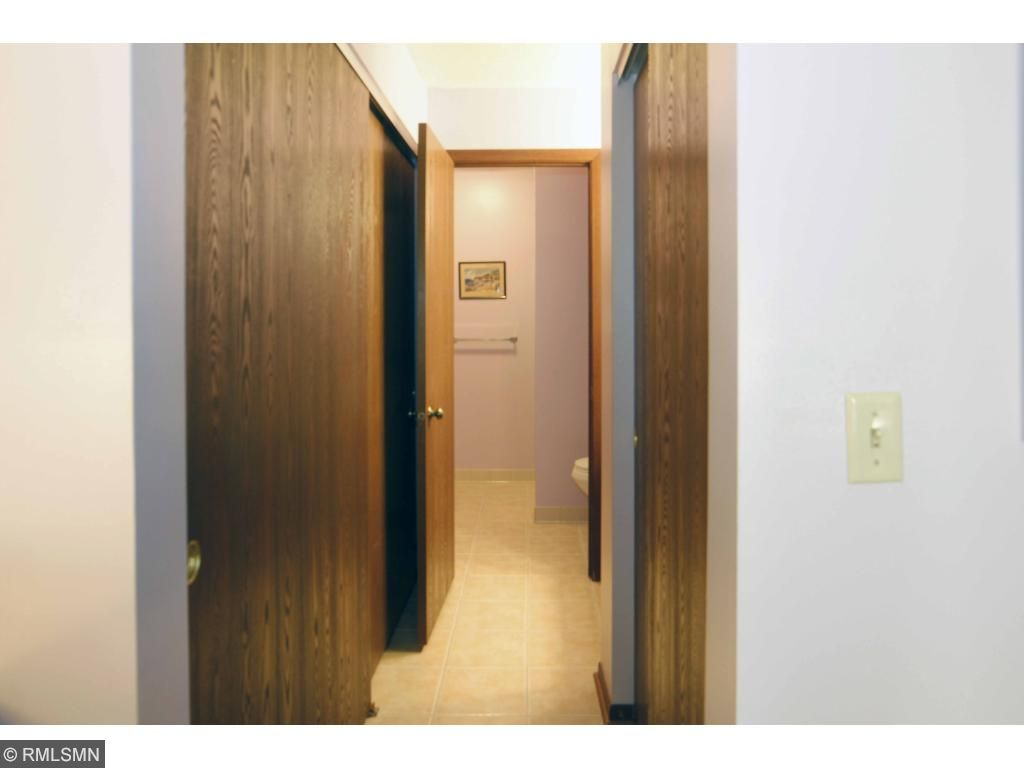 Closets on both sides leading to 3/4 bath