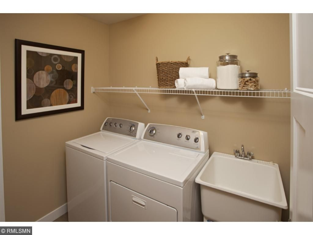 Laundry located on bedroom level!(photo of model home)
