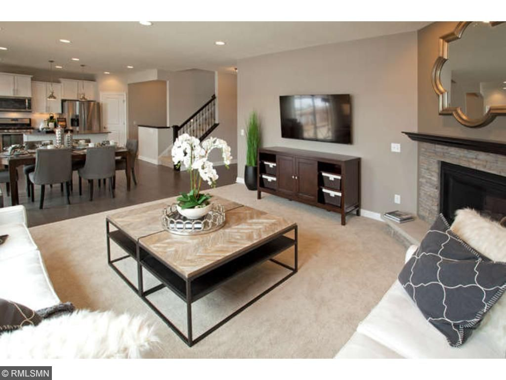 Large Gathering room  (photo of model home)