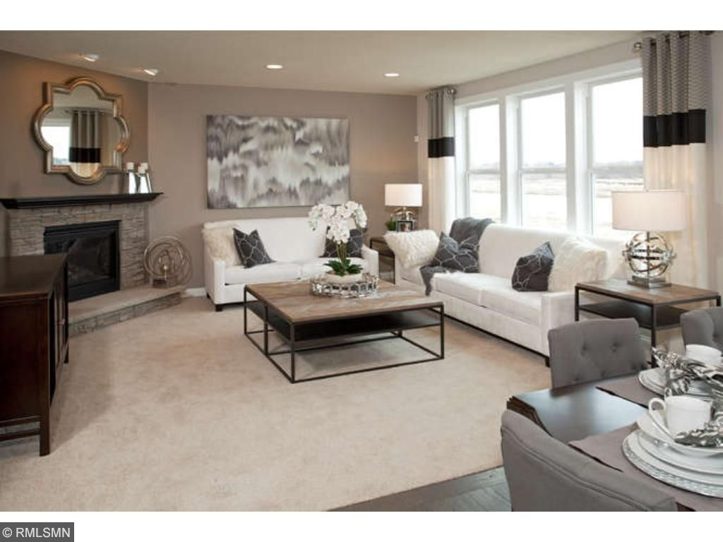 Gathering room - fireplace not included  (photo of model home)