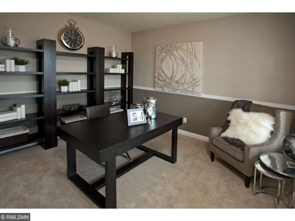 Flex room on the main level (photo of model home)