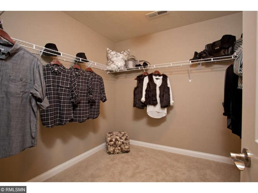 Walk-in Owner's Closet (photos of model home)