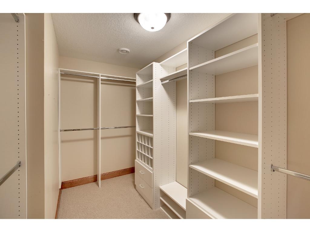 The Master Closet keeps any amount of wardrobe tidy and organized!