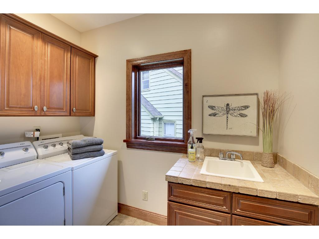 The Laundry sits on the main level for maximum convenience.