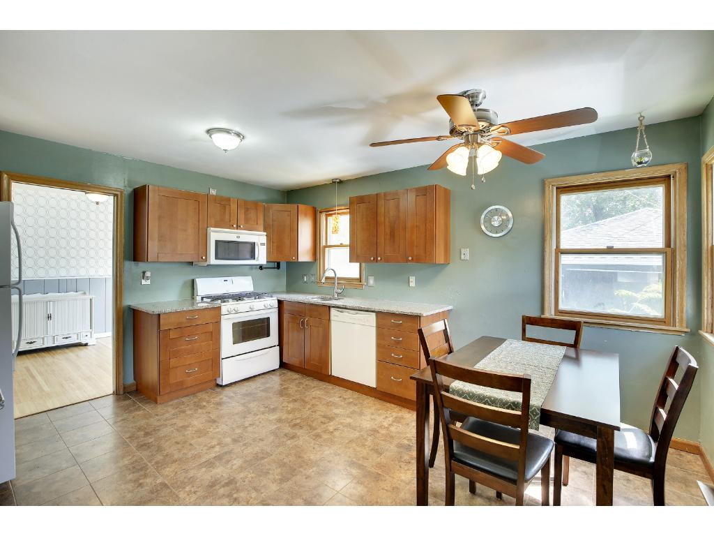 Spacious updated kitchen! Lots of storage!