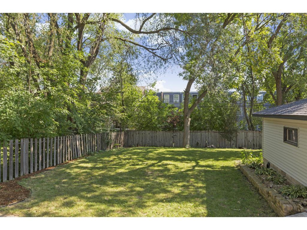Spacious fenced in backyard!