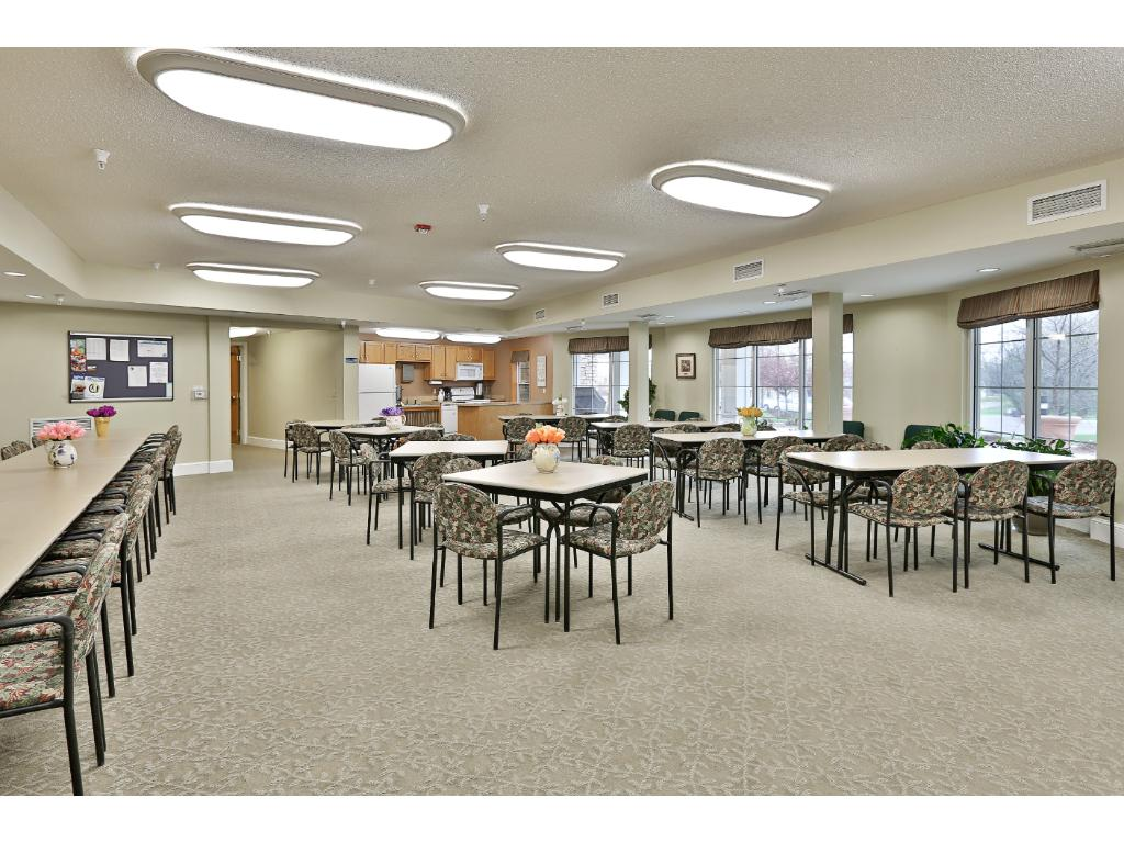 Community room - frequent events happen here and it is available for rent