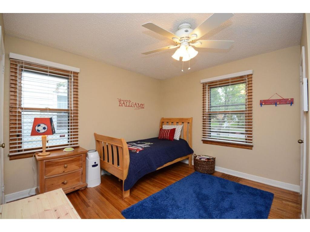 Spacious first floor bedroom--currently has a twin bed but can easily fit a queen!  This has been used as the master bedroom as it has two nice closets!